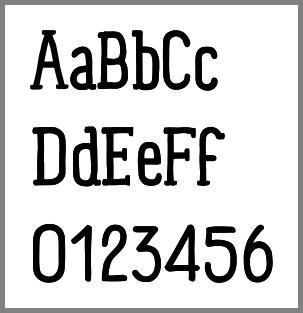 Echantillon de Panforte Serif