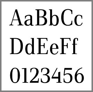 Echantillon de Luiss Serif